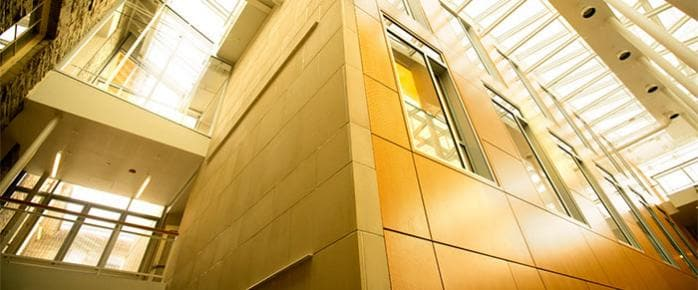 A corner of Goldiwn Smith in Klarman Atrium
