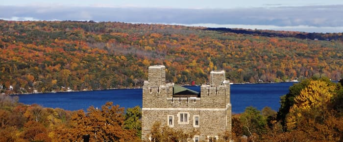 Cornell University West Campus to Cayuga Lake